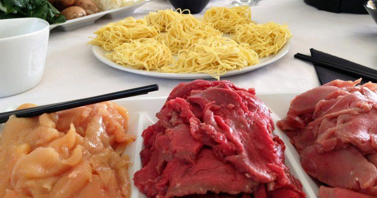 Fondue japonaise à la viande
