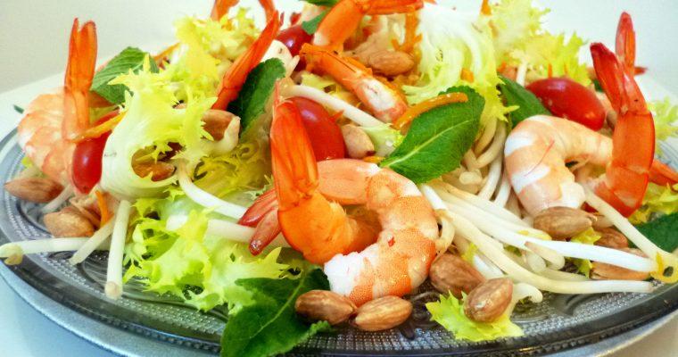 Salade de crevettes au wasabi