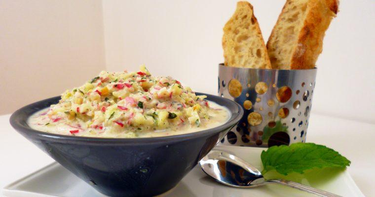 Radis et concombre au yaourt