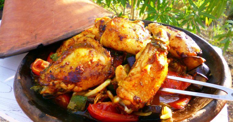 Tajine de poulet aux légumes d'été