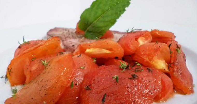Tomates confites au four