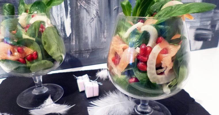 Salade légère au saumon fumé