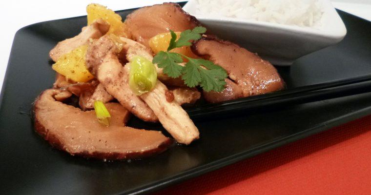 Poulet sauté aux champignons shiitake