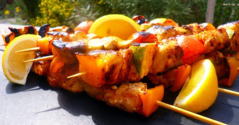 Brochettes de poulet aux épices satay