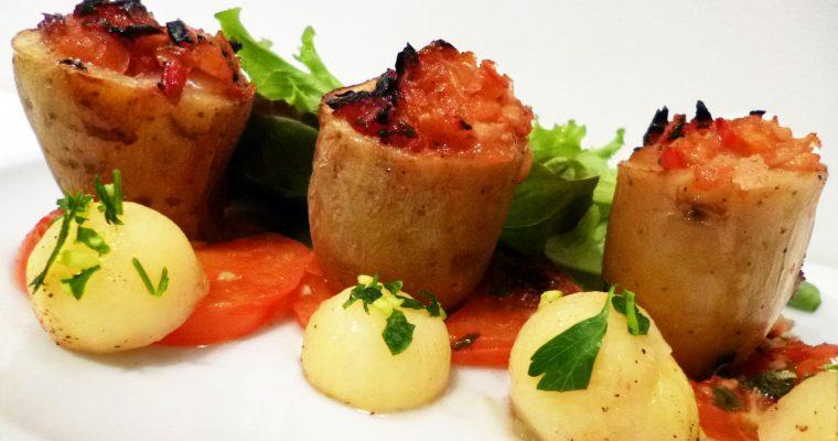 Pommes de terre farcies au rougail tomates