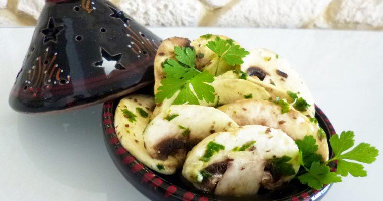 Salade de champignons à l'orientale