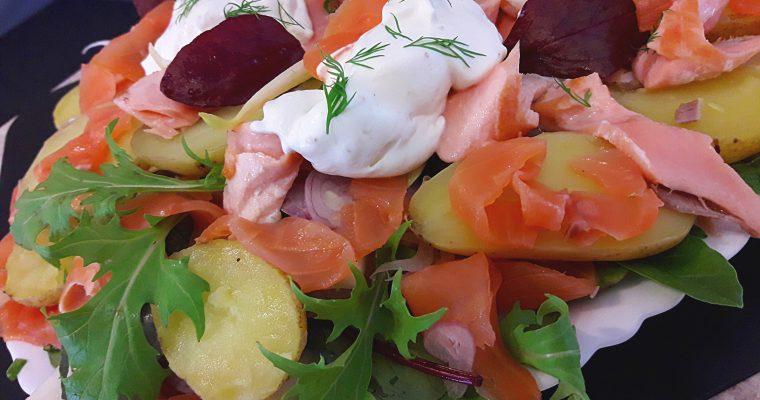 Salade de Grenaille aux 2 saumons