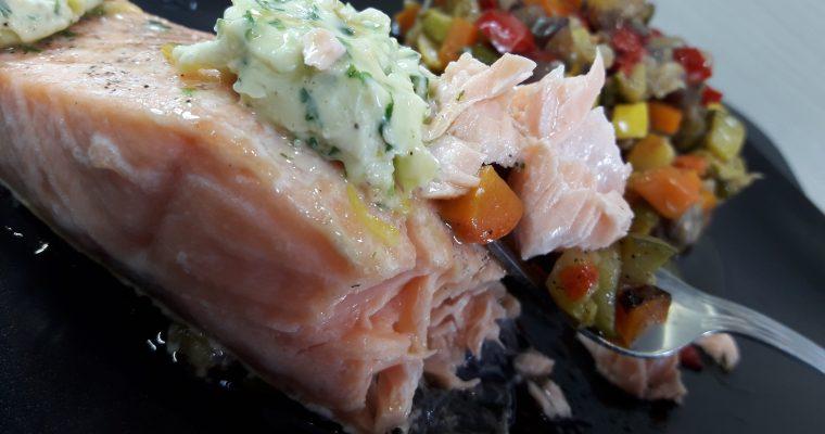 Pavés de saumon au beurre d'estragon