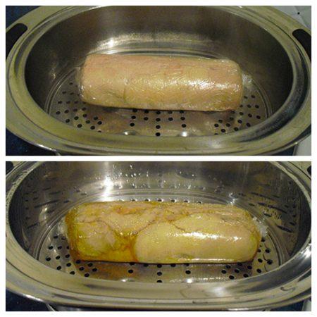 Foie gras la vapeur la recette facile par toqu s 2 cuisine - Cuire du foie gras ...