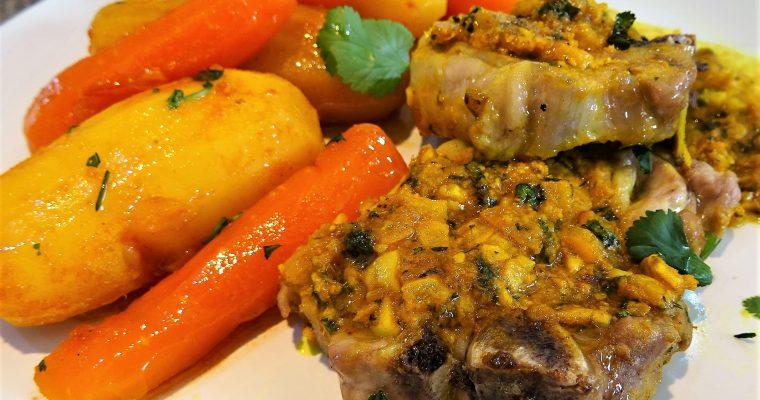 Côtes d'agneau au citron confit sur plat CRISP