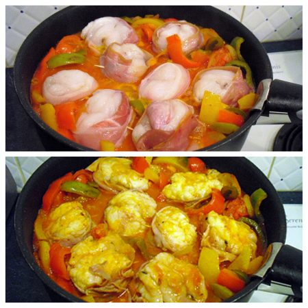 Medaillons de lotte basquaise la recette facile par toqu s 2 cuisine - Temps de cuisson queue de lotte ...