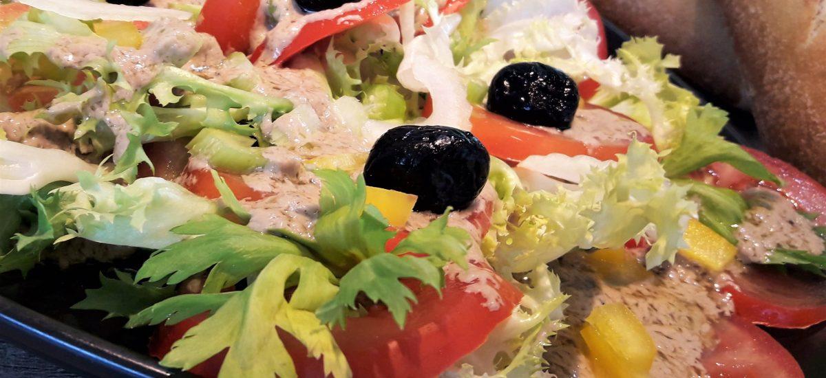 Salade de tomates à la Bagna Cauda