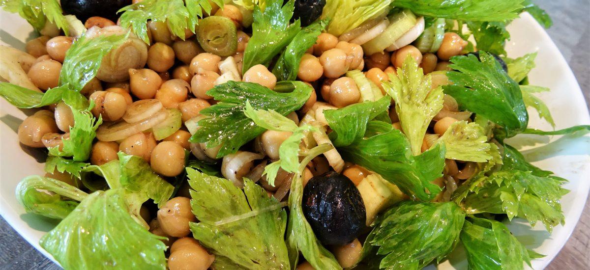 Salade de pois chiches et céleri