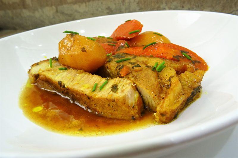 Rouelle de porc aux pices la recette facile par toqu s 2 cuisine - Cuisiner la rouelle de porc ...