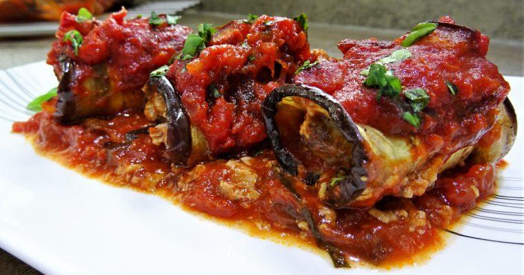 Cannellonis d'aubergines au bœuf