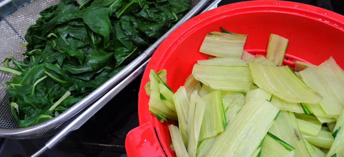 Comment préparer des blettes, bettes ou poirées
