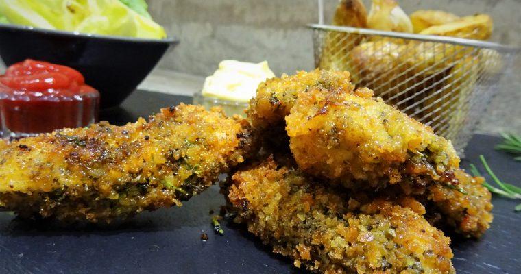 Filets de poulet panés aux herbes