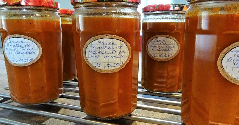 Stérilisation au four sauce tomates maison