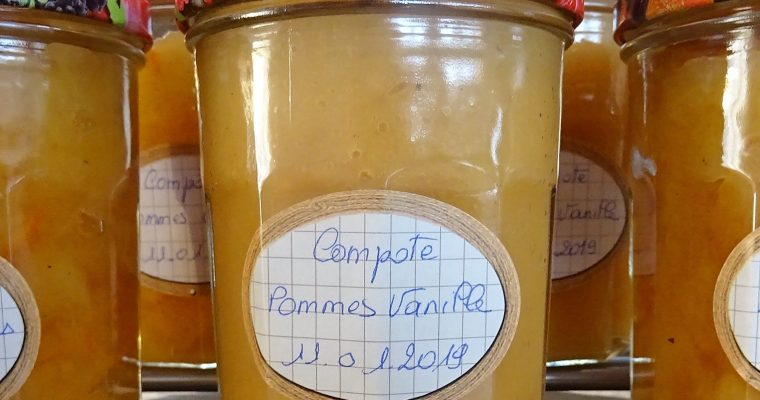 Compote pommes vanille