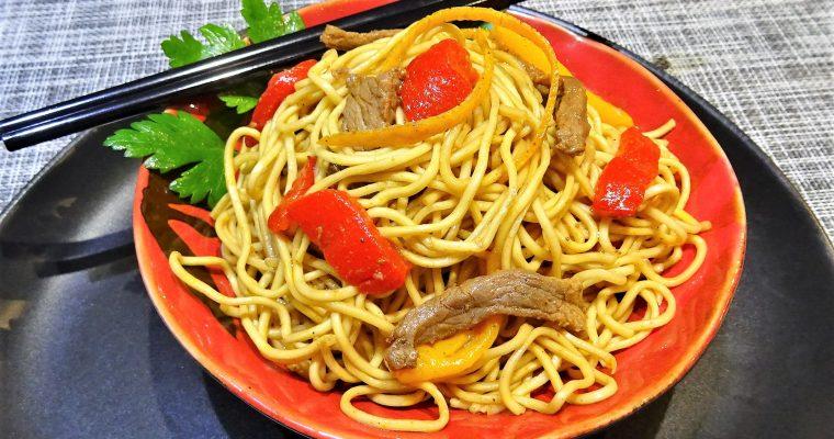 Nouilles chinoises au bœuf