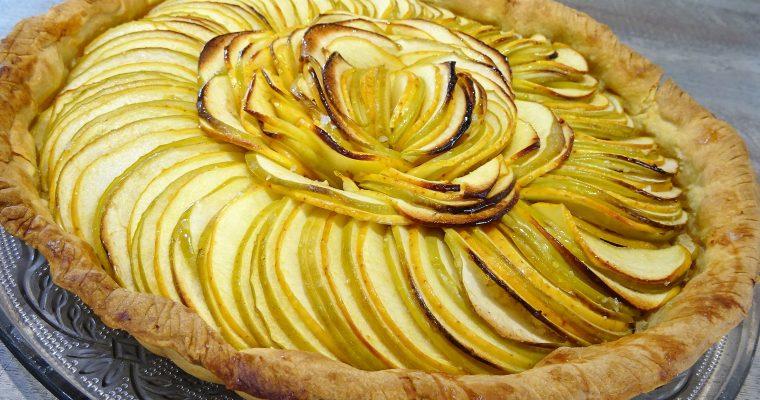 Tarte aux pommes et miel de mandarine