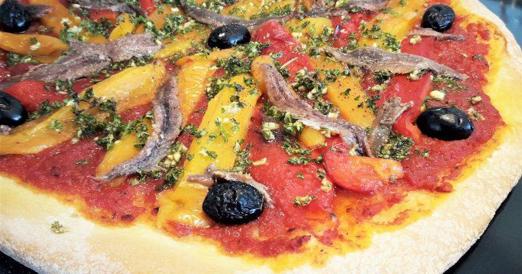 Pizza poivrons anchois