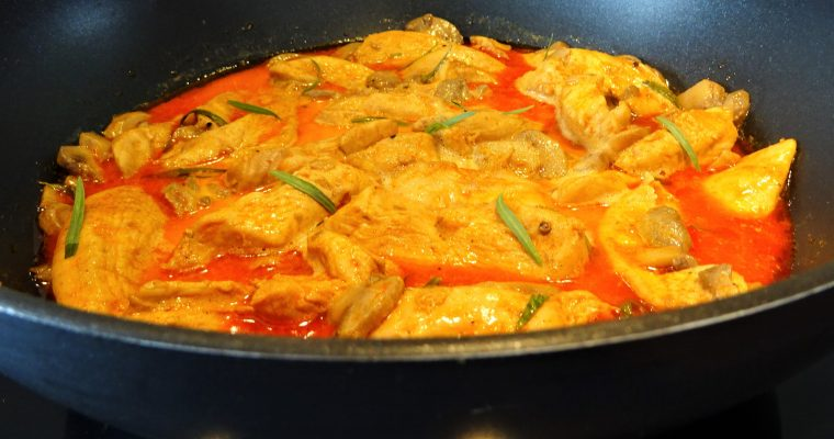 Aiguillettes de poulet au paprika