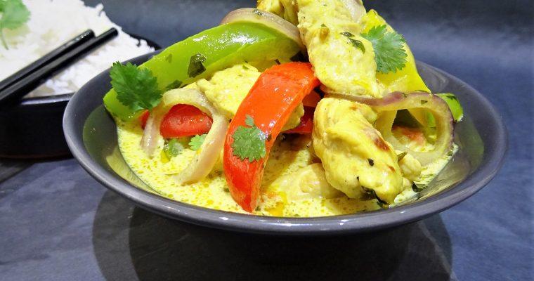 Curry de dinde à la crème de coco
