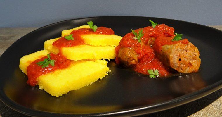 Saucisses de Toulouse en sauce tomate