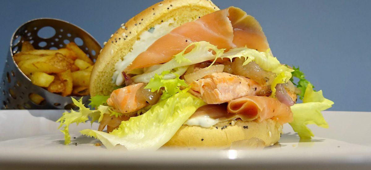 Burger aux deux saumons